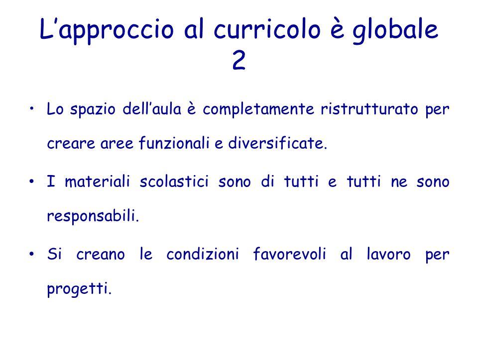 L'approccio al curricolo è globale 2