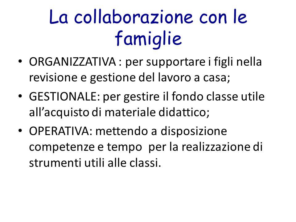La collaborazione con le famiglie