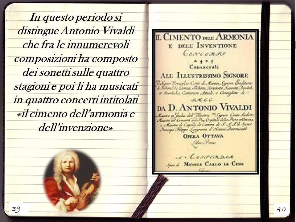 «il cimento dell'armonia e dell'invenzione»