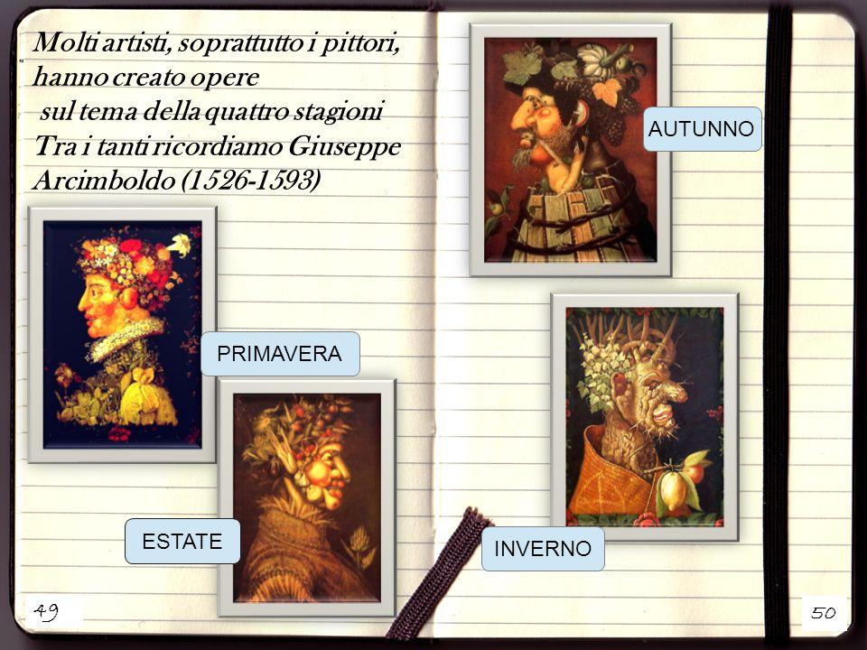 Molti artisti, soprattutto i pittori, hanno creato opere