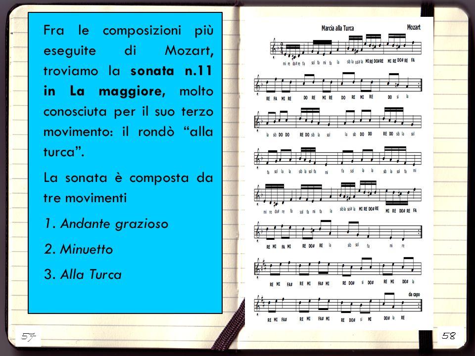La sonata è composta da tre movimenti 1. Andante grazioso 2. Minuetto