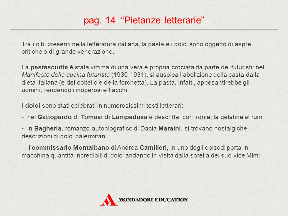 pag. 14 Pietanze letterarie