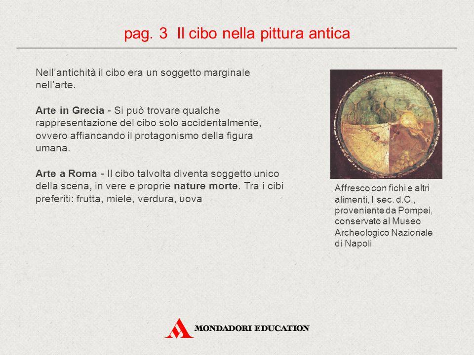 pag. 3 Il cibo nella pittura antica