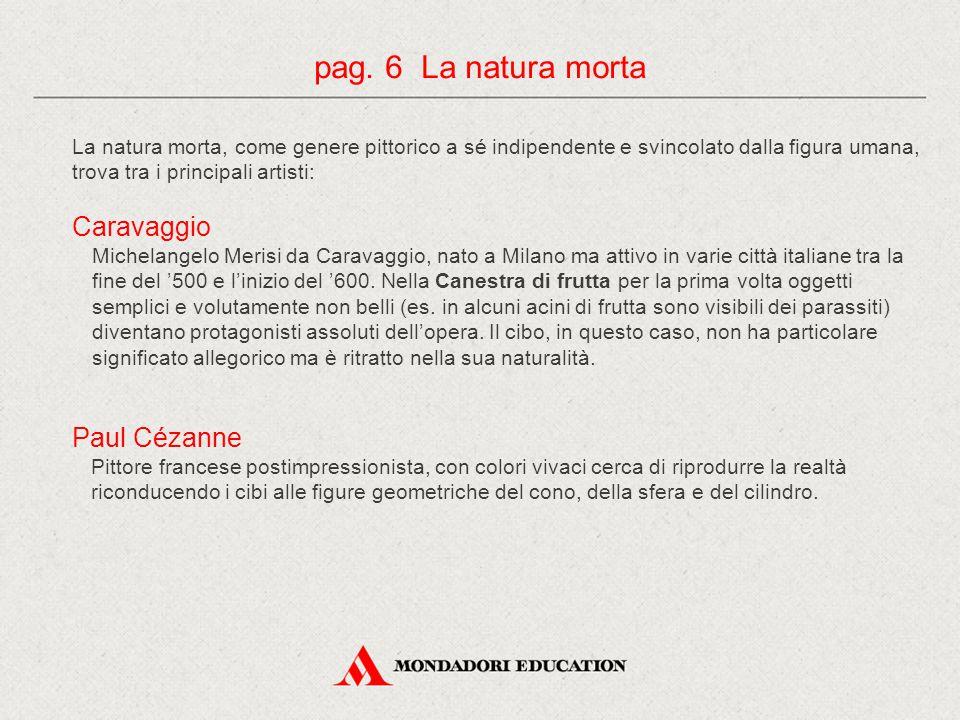 pag. 6 La natura morta Caravaggio Paul Cézanne