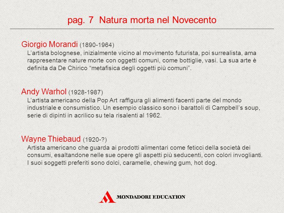 pag. 7 Natura morta nel Novecento