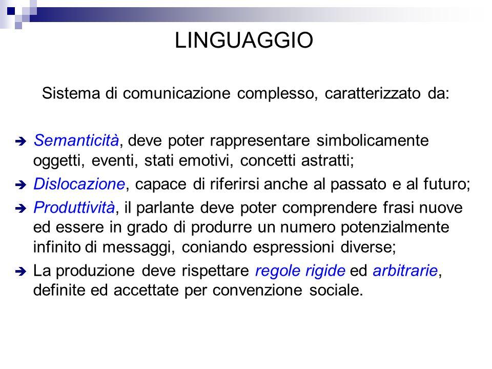 Sistema di comunicazione complesso, caratterizzato da: