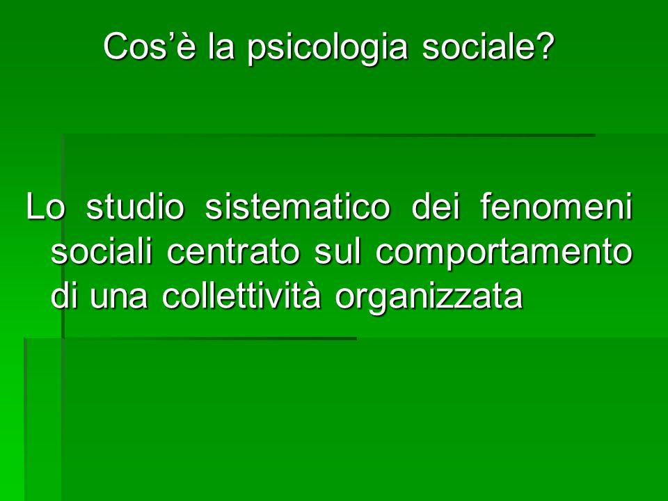 Cos'è la psicologia sociale