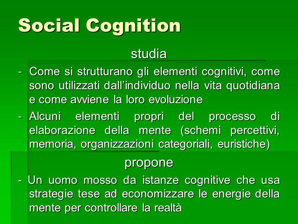 Social Cognition studia propone