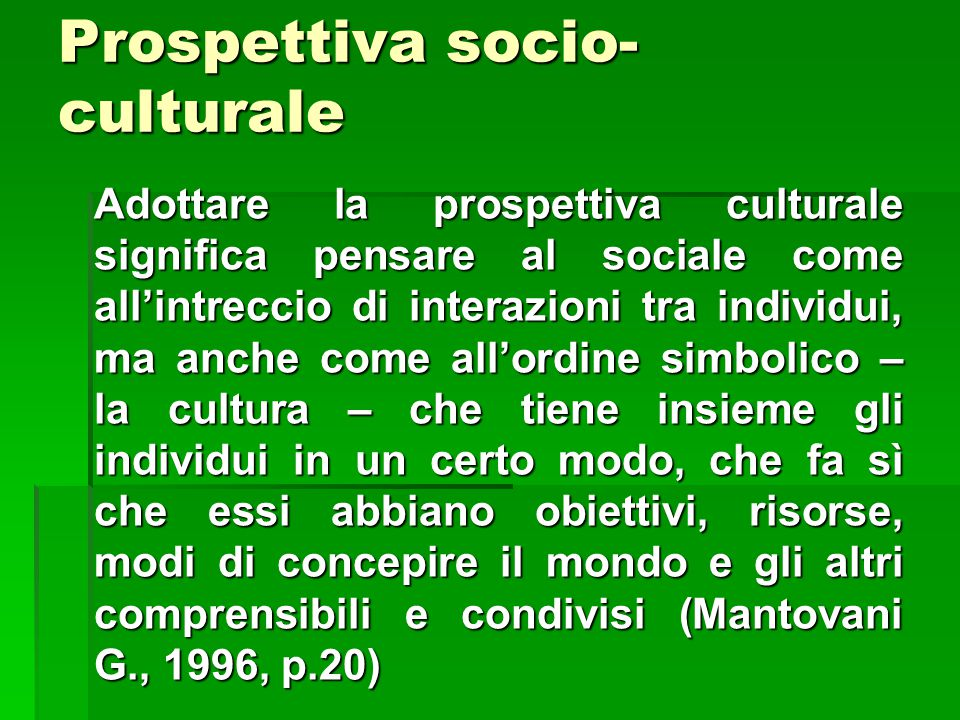 Prospettiva socio-culturale