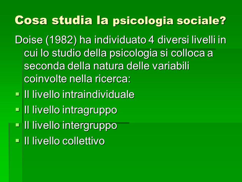 Cosa studia la psicologia sociale