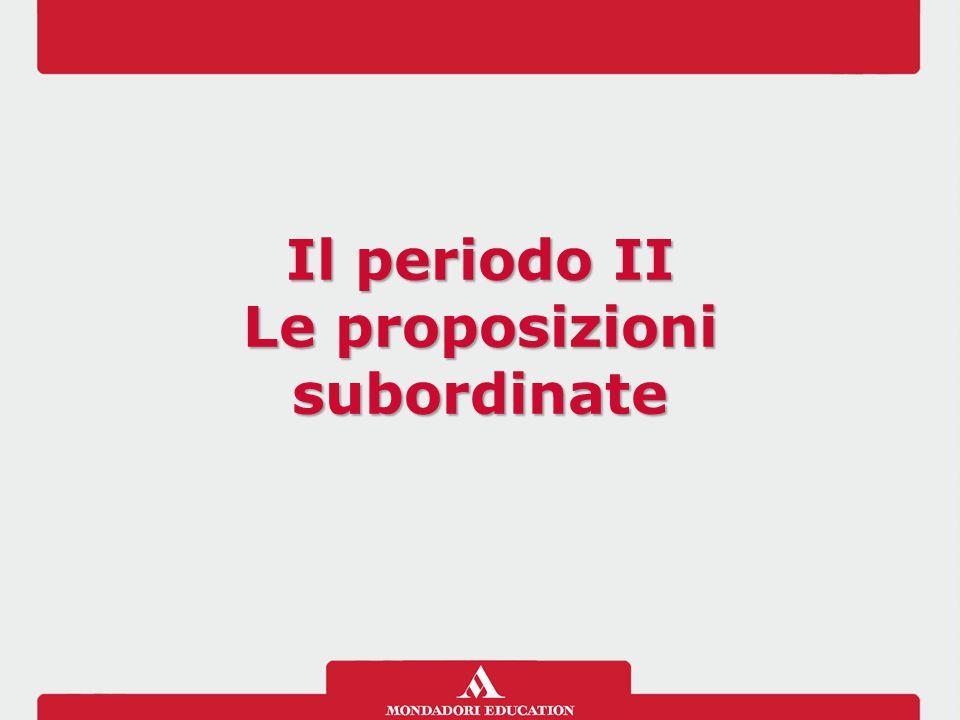 Le proposizioni subordinate