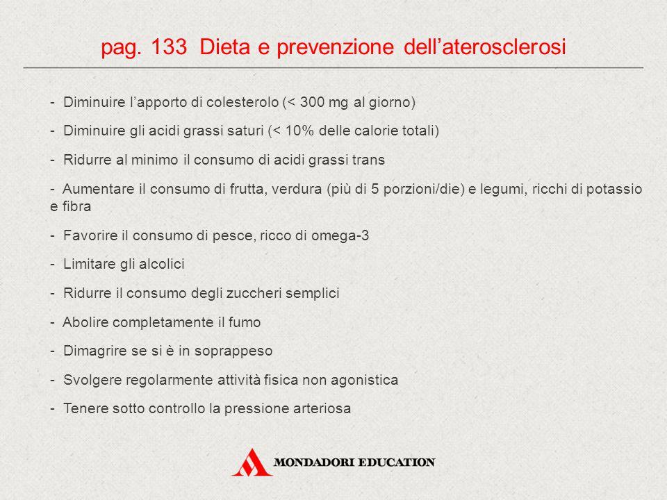 pag. 133 Dieta e prevenzione dell'aterosclerosi