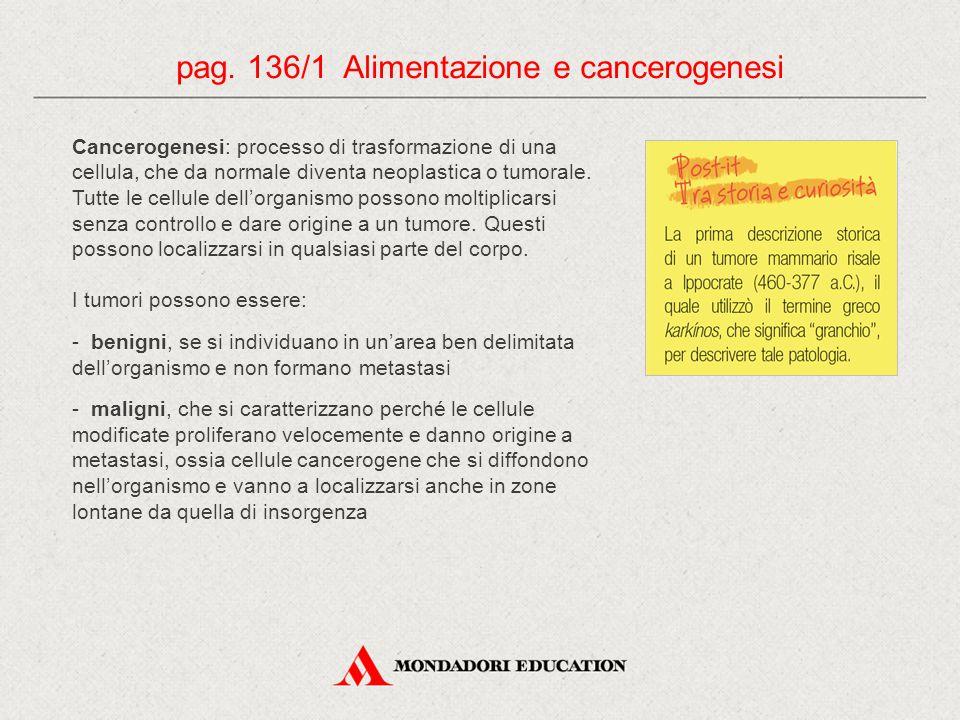 pag. 136/1 Alimentazione e cancerogenesi