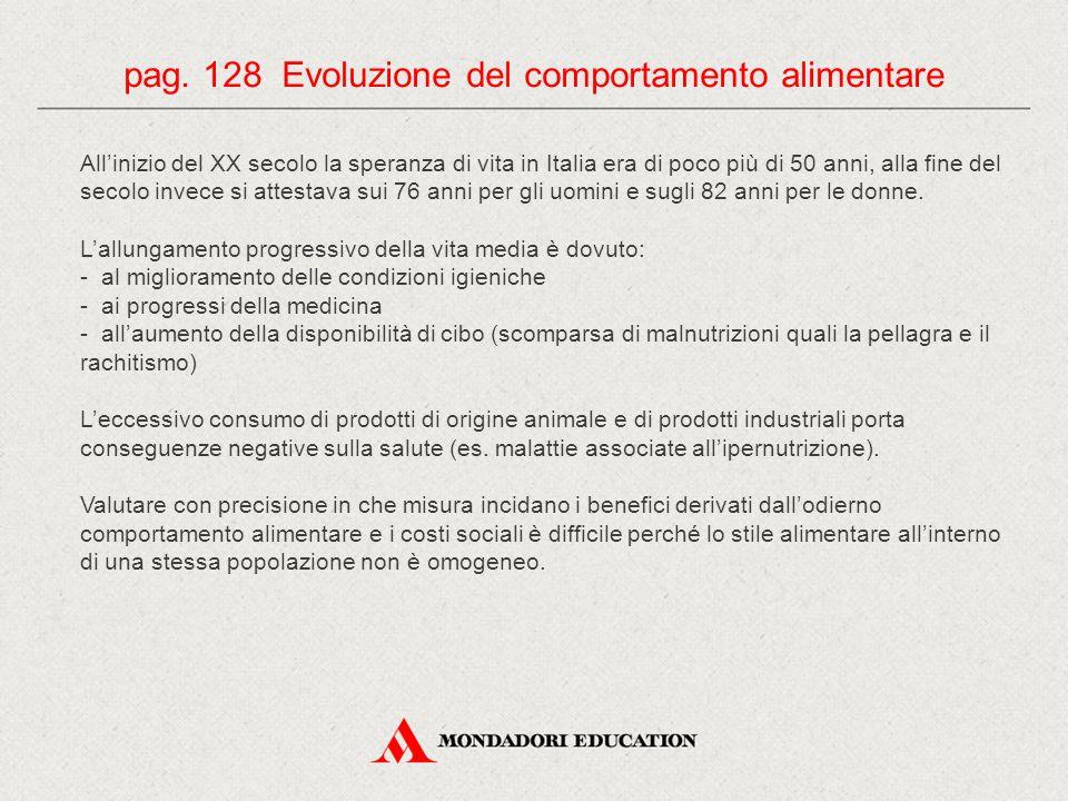 pag. 128 Evoluzione del comportamento alimentare