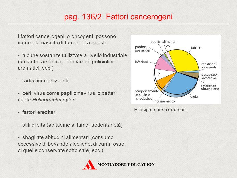 pag. 136/2 Fattori cancerogeni
