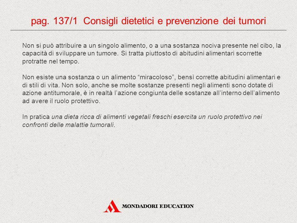 pag. 137/1 Consigli dietetici e prevenzione dei tumori
