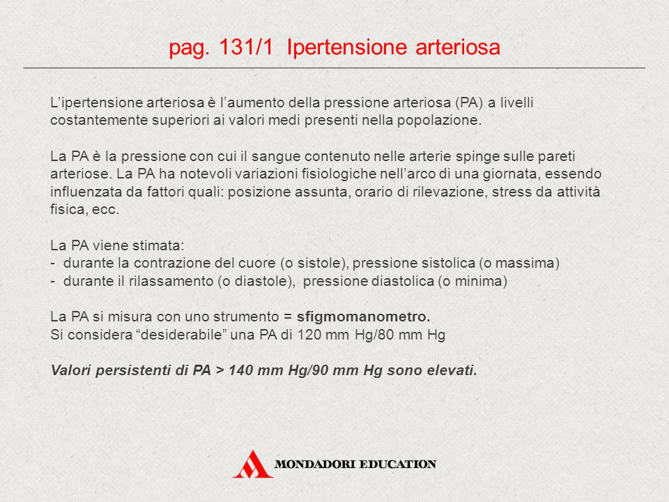 pag. 131/1 Ipertensione arteriosa