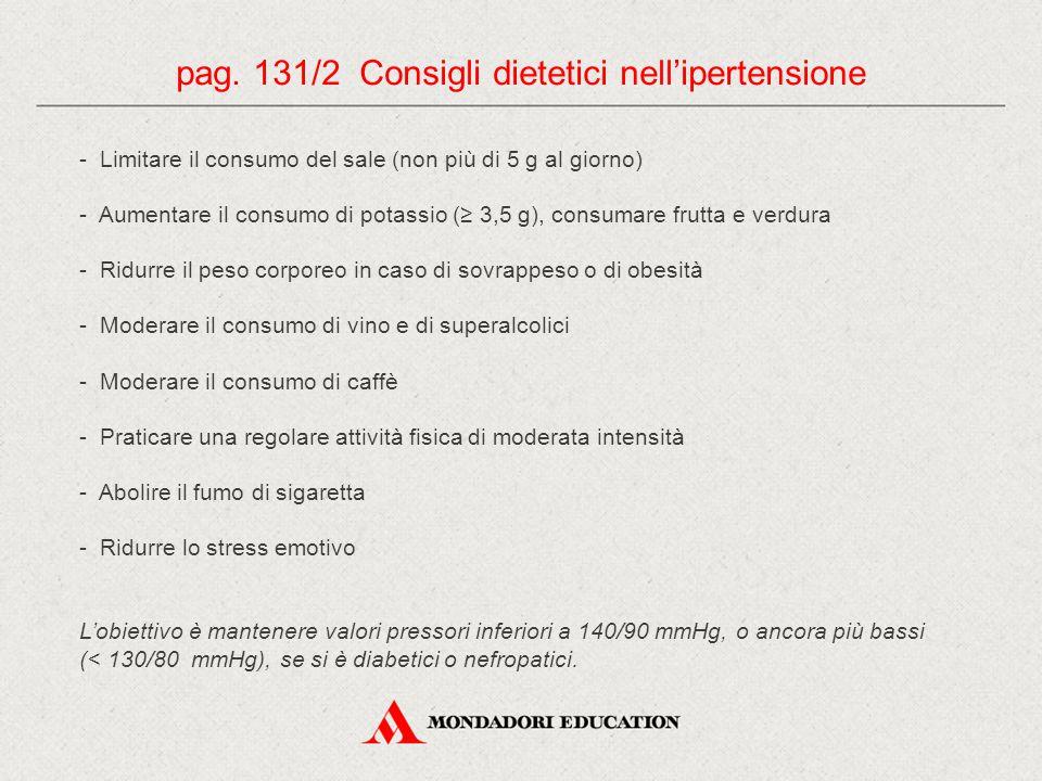 pag. 131/2 Consigli dietetici nell'ipertensione