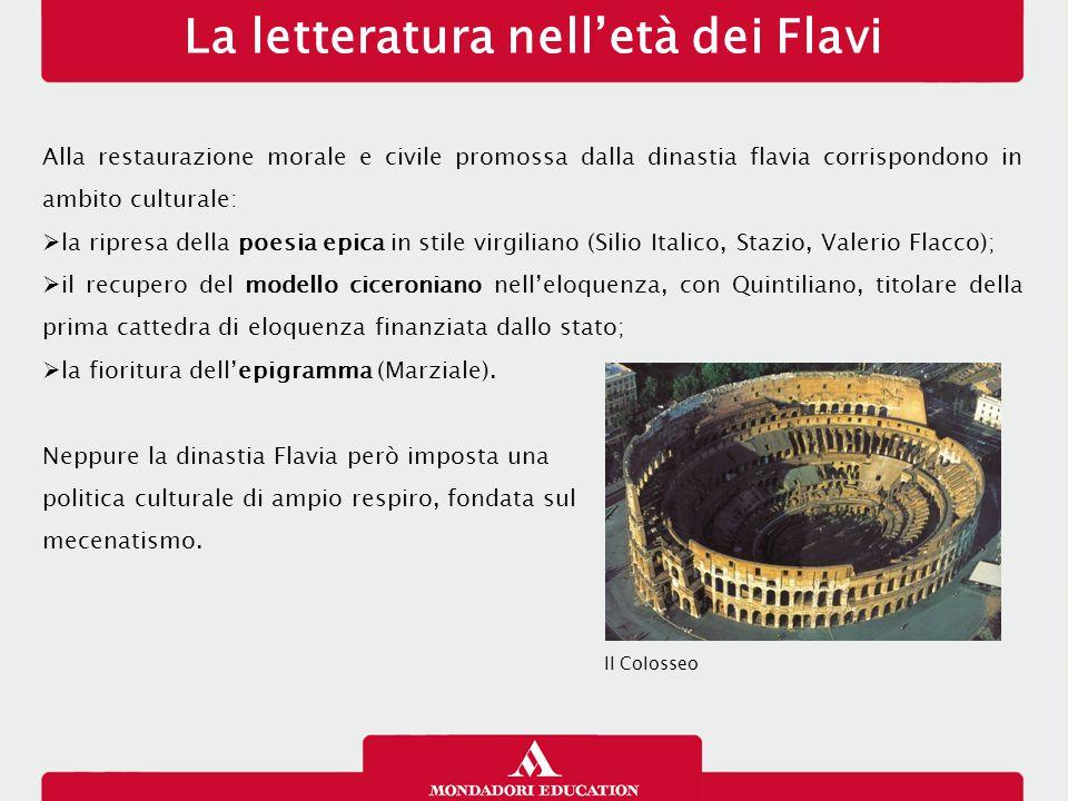 La letteratura nell'età dei Flavi