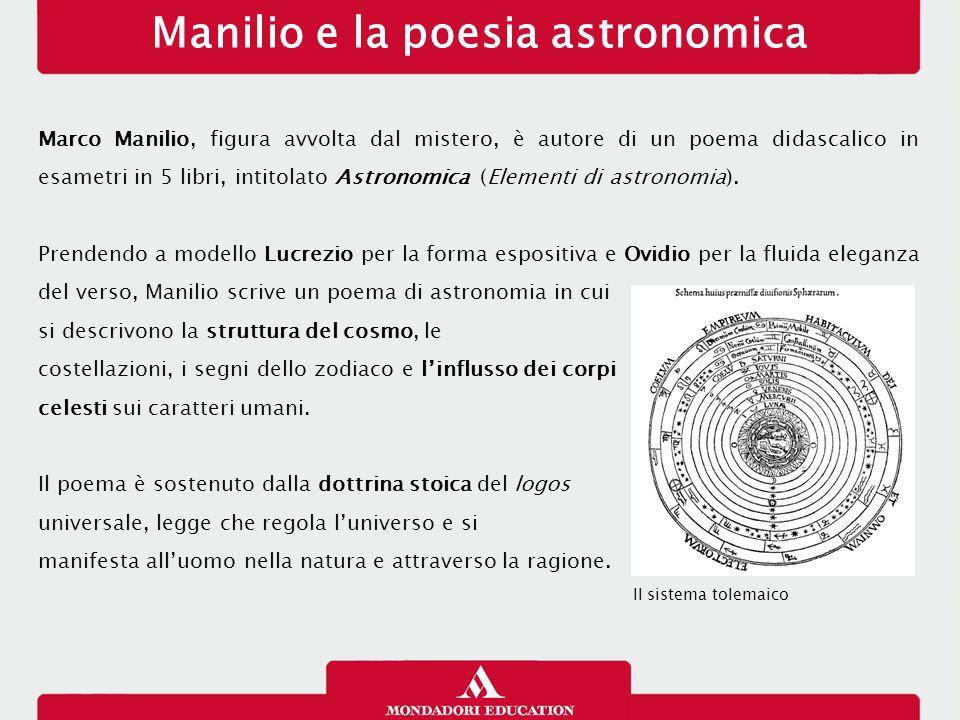 Manilio e la poesia astronomica