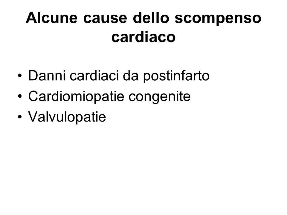Alcune cause dello scompenso cardiaco
