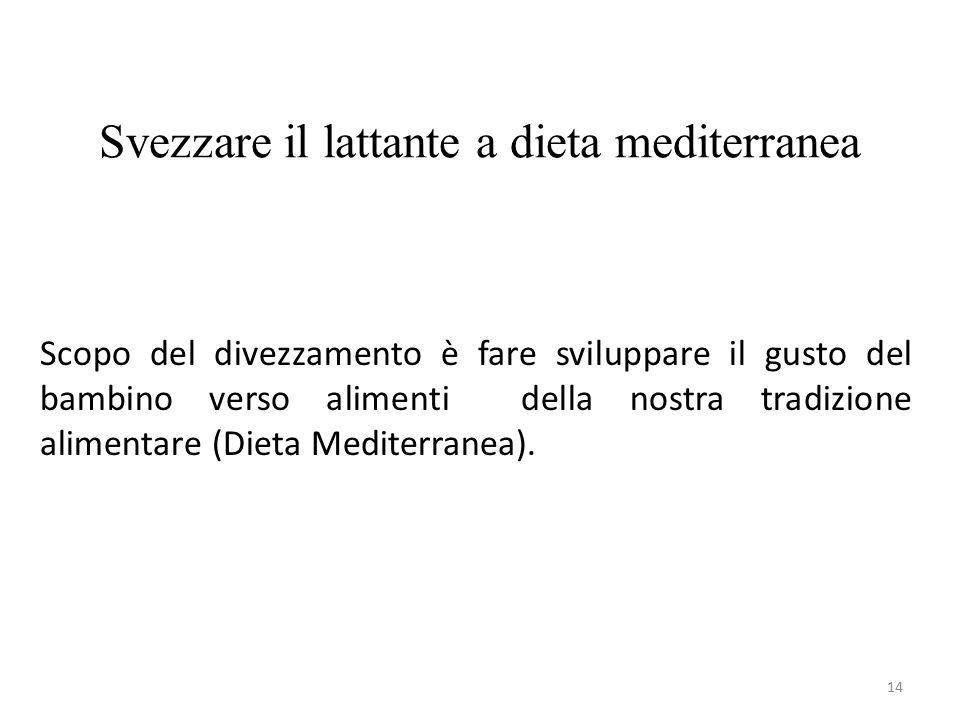 Svezzare il lattante a dieta mediterranea