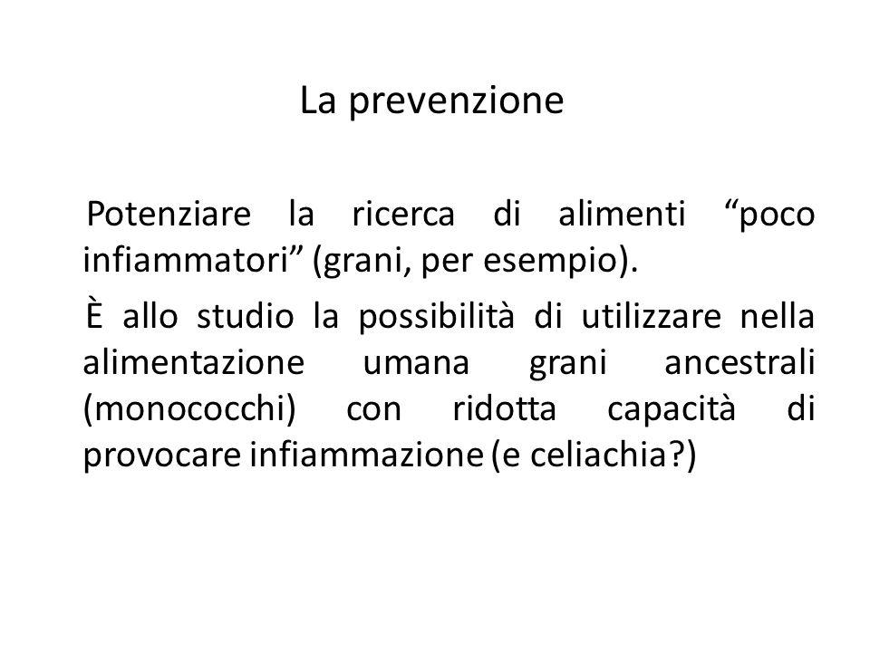 La prevenzione Potenziare la ricerca di alimenti poco infiammatori (grani, per esempio).