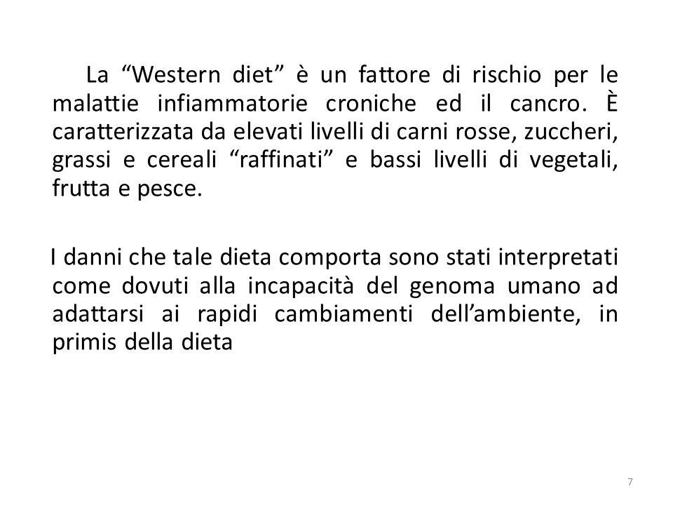 La Western diet è un fattore di rischio per le malattie infiammatorie croniche ed il cancro.