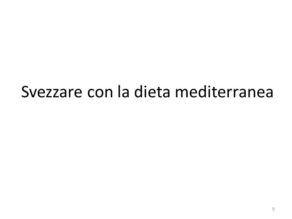 Svezzare con la dieta mediterranea