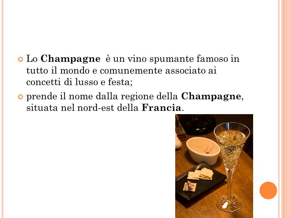 Lo Champagne è un vino spumante famoso in tutto il mondo e comunemente associato ai concetti di lusso e festa;