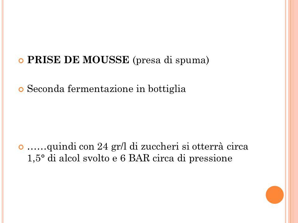PRISE DE MOUSSE (presa di spuma)