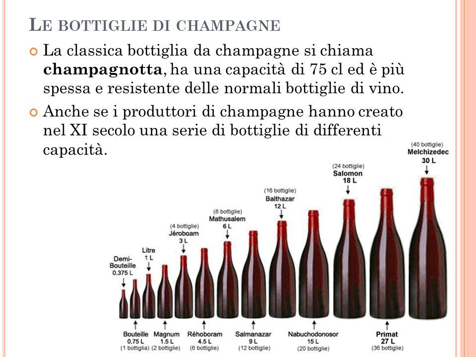 Le bottiglie di champagne