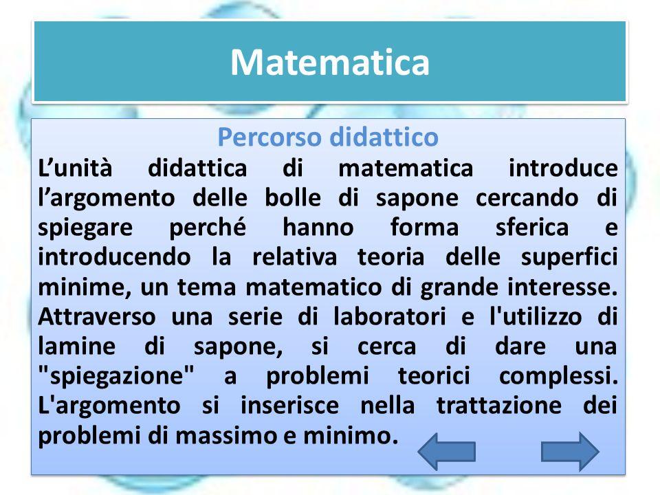 Matematica Percorso didattico