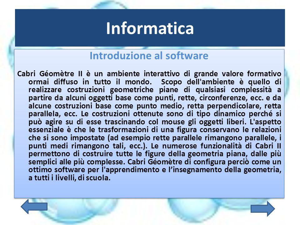 Introduzione al software