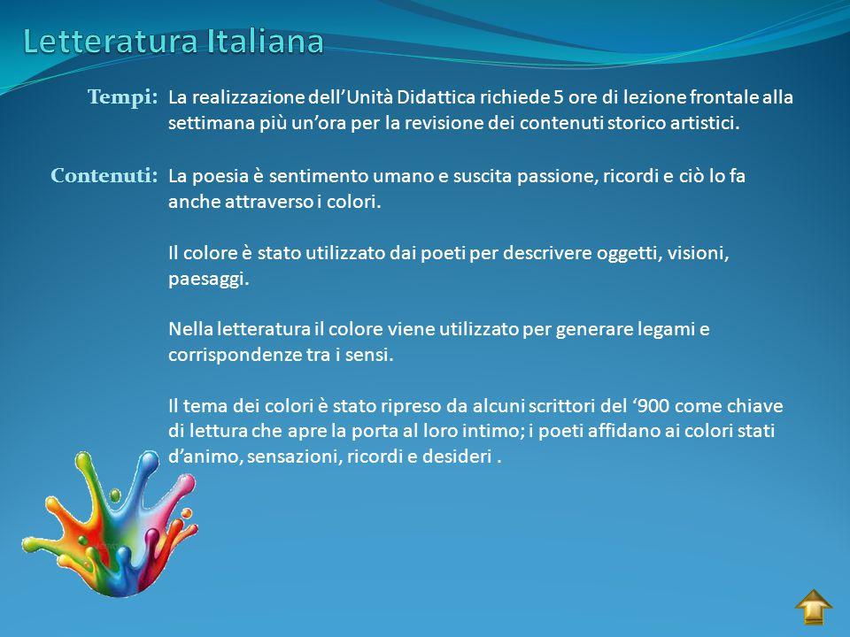 Letteratura Italiana Tempi:
