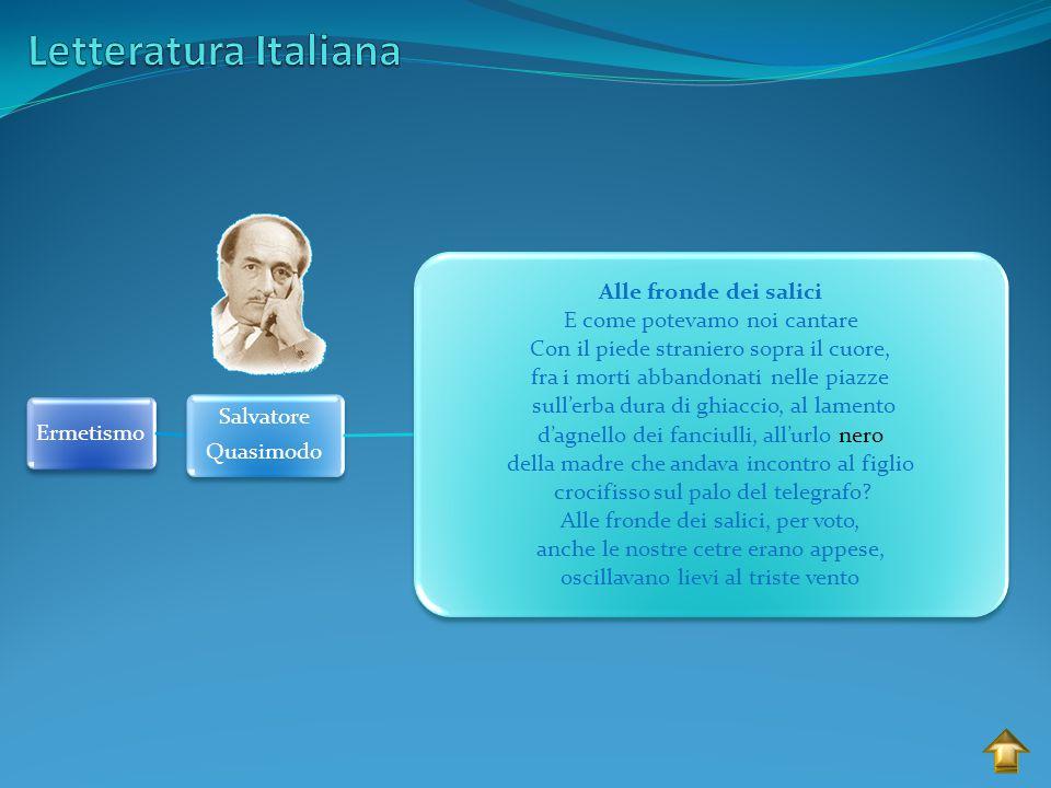Letteratura Italiana Salvatore Ermetismo Quasimodo