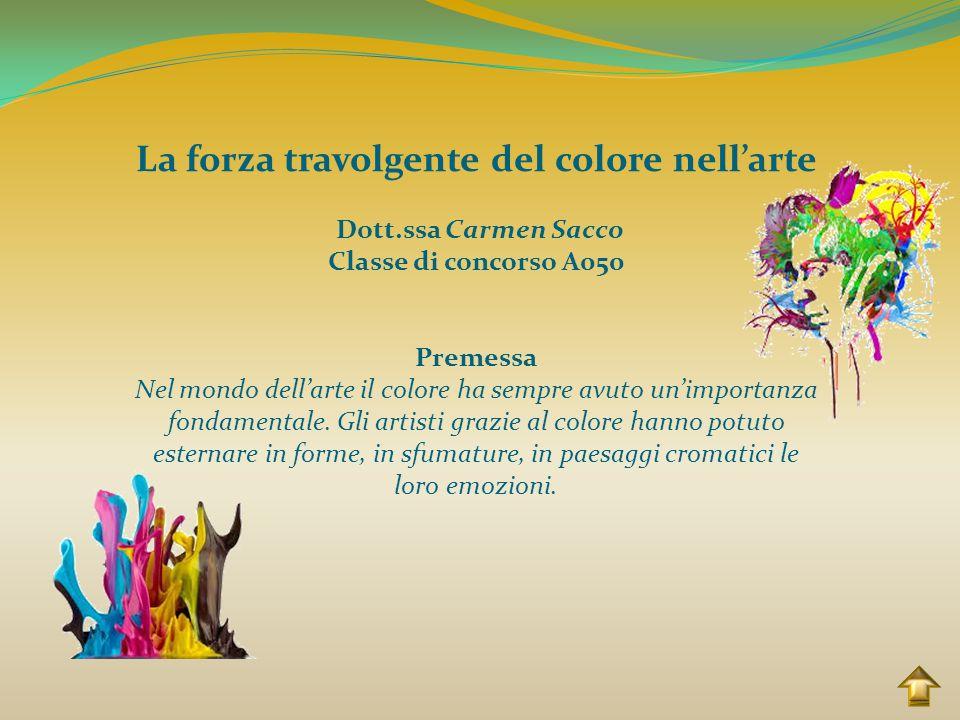 La forza travolgente del colore nell'arte