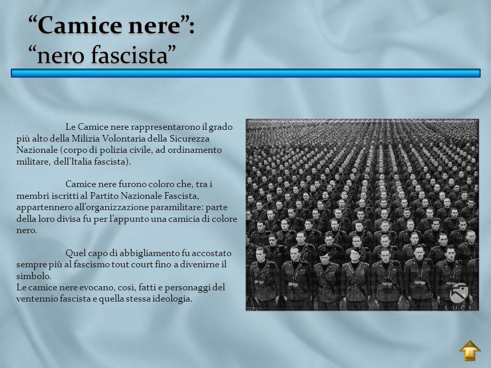 Camice nere : nero fascista