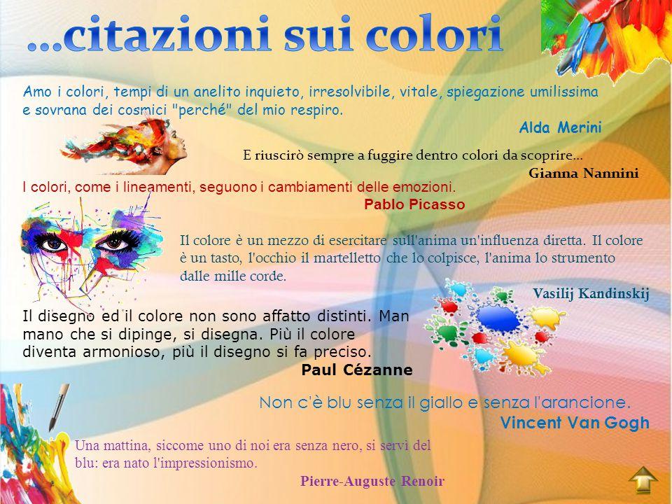 …citazioni sui colori Non c è blu senza il giallo e senza l arancione.