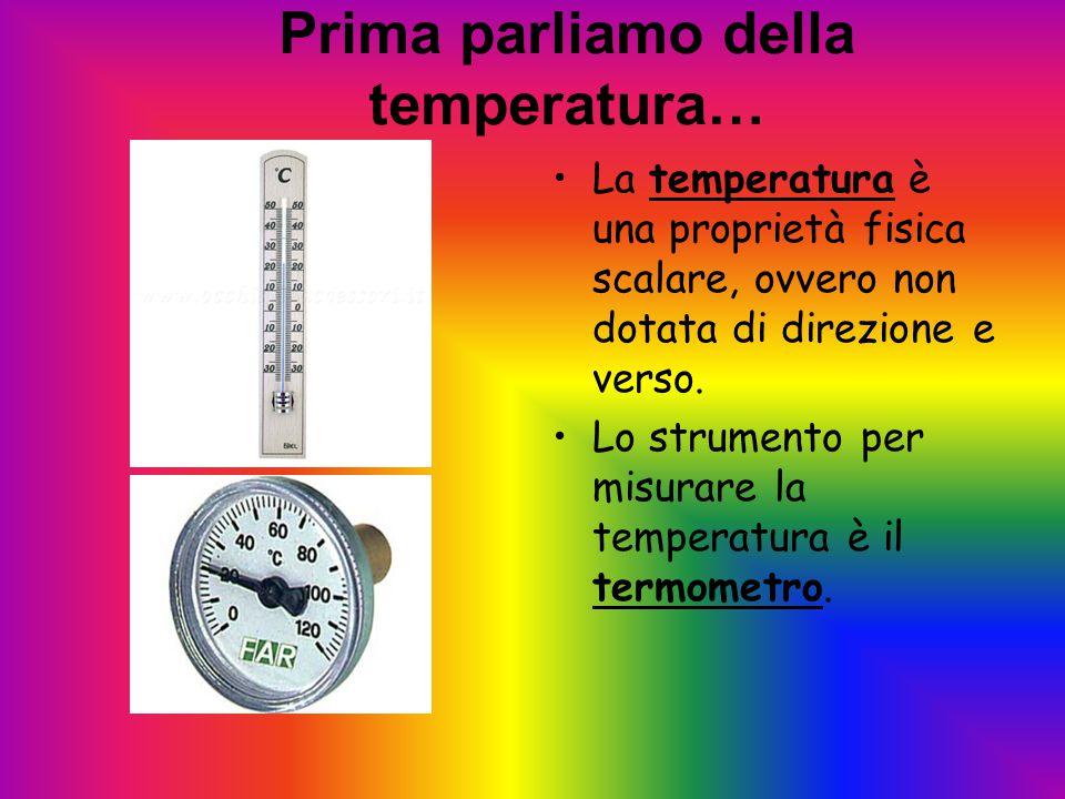 Prima parliamo della temperatura…