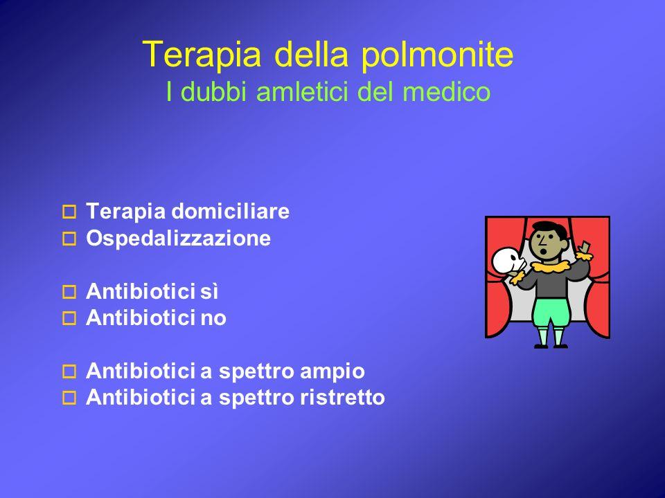 Terapia della polmonite I dubbi amletici del medico