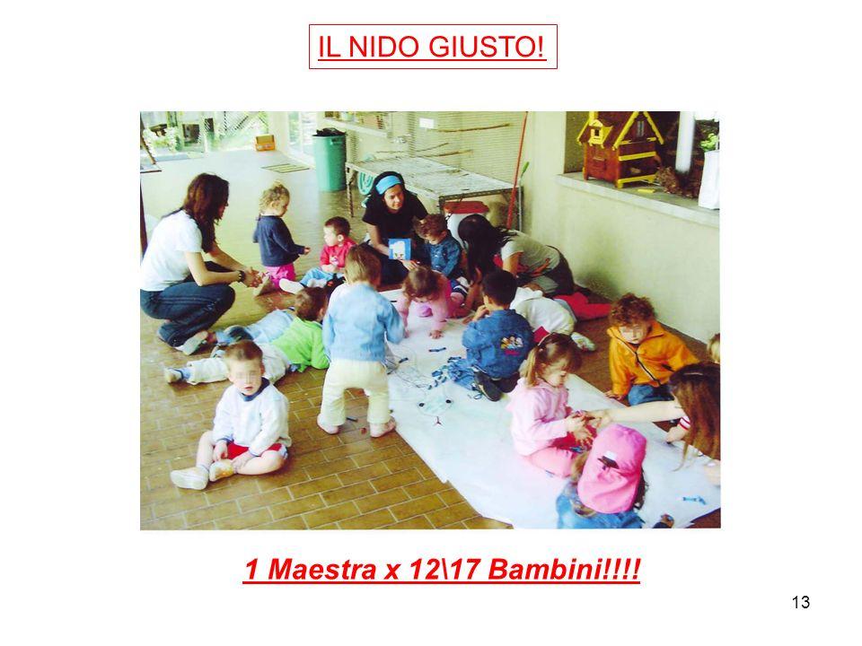 IL NIDO GIUSTO! 1 Maestra x 12\17 Bambini!!!!
