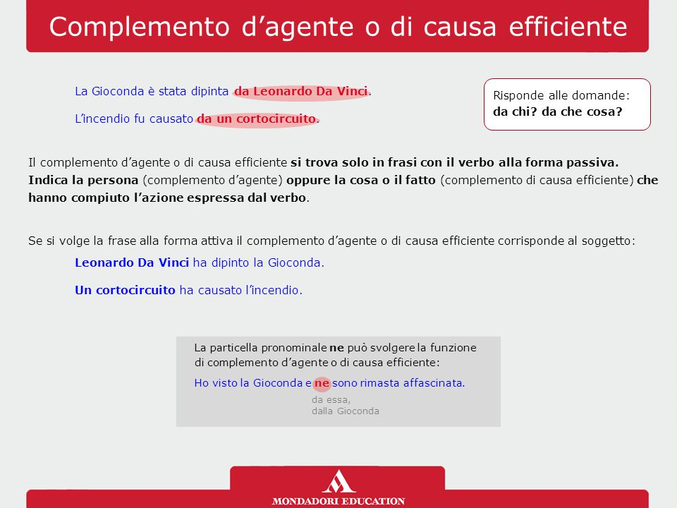 Complemento d'agente o di causa efficiente