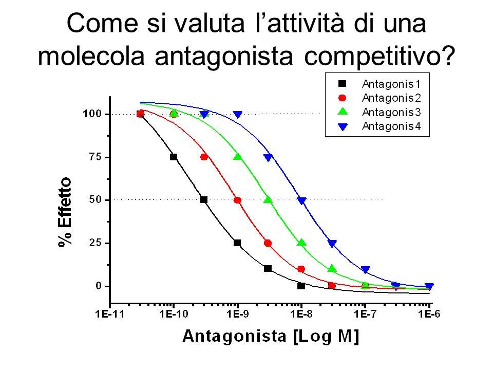 Come si valuta l'attività di una molecola antagonista competitivo
