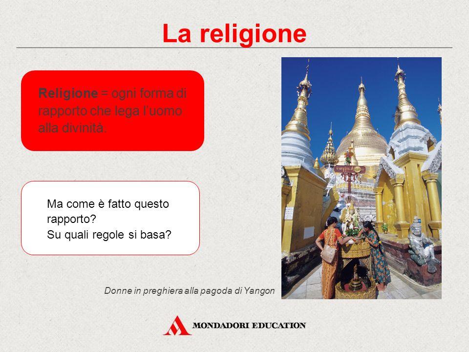La religione Religione = ogni forma di rapporto che lega l'uomo alla divinità. Ma come è fatto questo rapporto