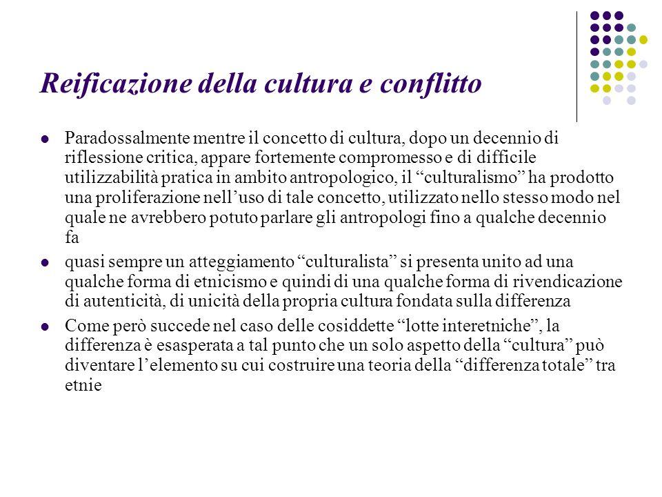 Reificazione della cultura e conflitto