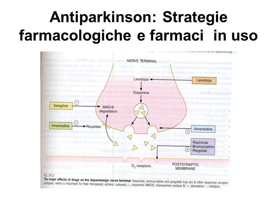 Antiparkinson: Strategie farmacologiche e farmaci in uso