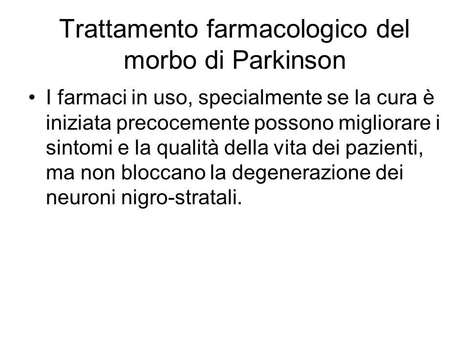 Trattamento farmacologico del morbo di Parkinson