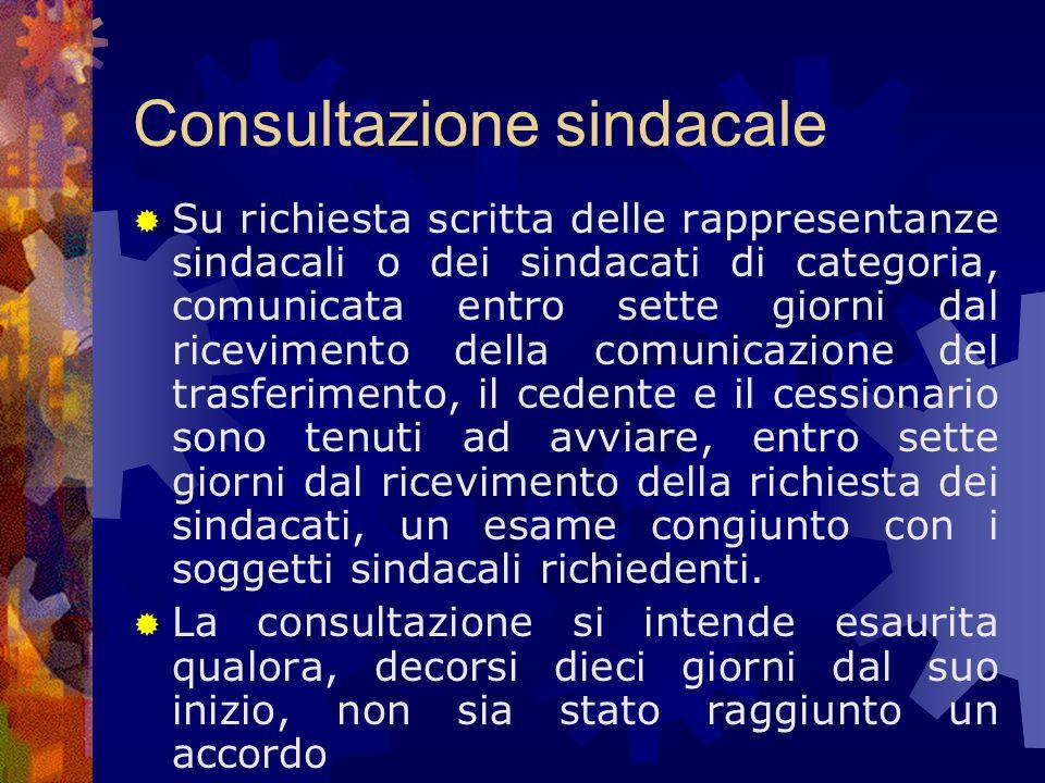 Consultazione sindacale
