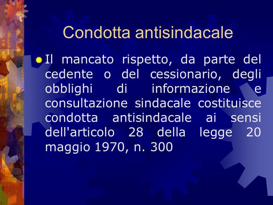 Condotta antisindacale